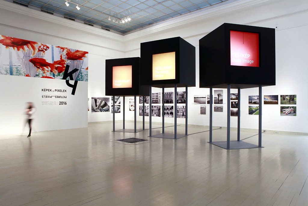 Pictures and Pixels - group exhibition at Mucsarnok, Kunsthalle, Budapest, 2016.