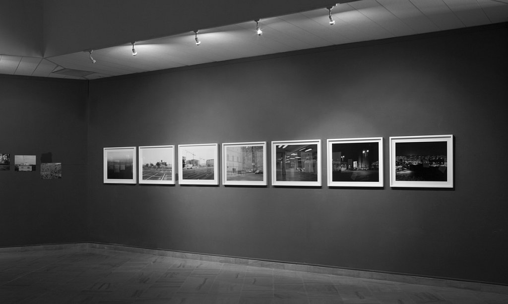 """7 artworks from the series: Budapest 4x5"""" (2014). 7 prints fromArchive inkjet print, mounted and framed. size: 80x62cm. ed. 5 + 2AP"""