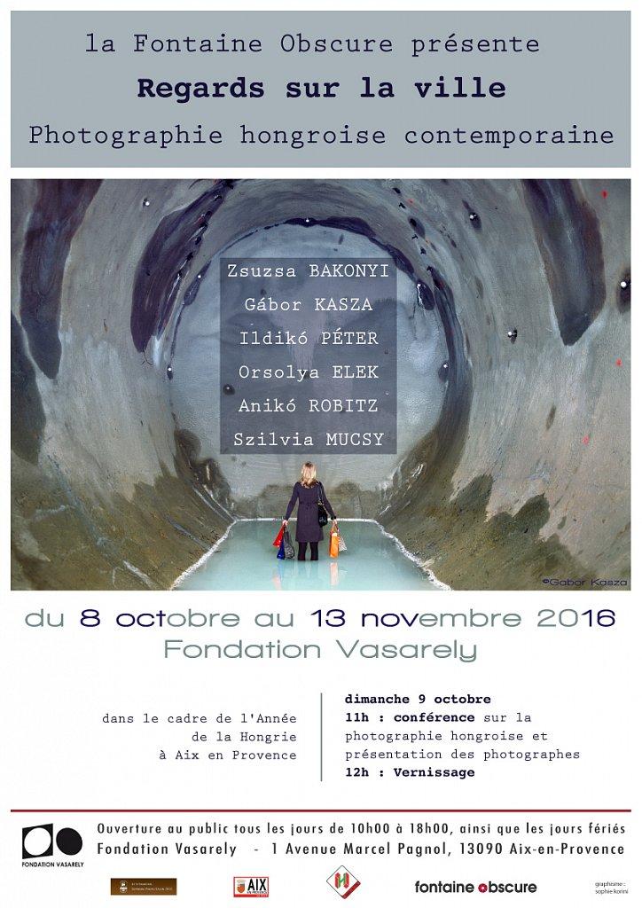 Regards sur la Ville, Hungarian Photography exhibition at Fondation Vasarely, Aix-en-Provence, France